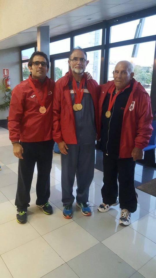 Padre hijo abuelo Campeonatos de Madrid Veterano