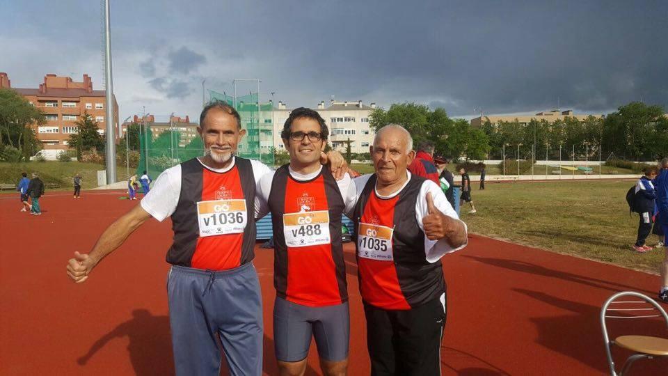 Padre hijo y abuelo en el Campeonato de Madrid Veteranos